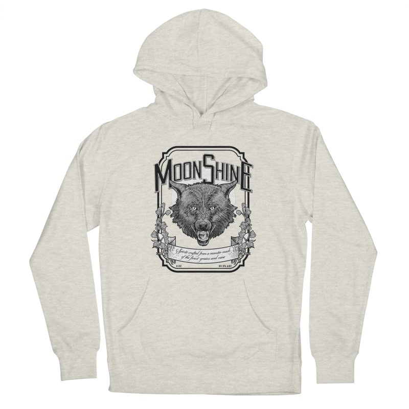 Moonshine Men's French Terry Pullover Hoody by Neon Robot Graphics