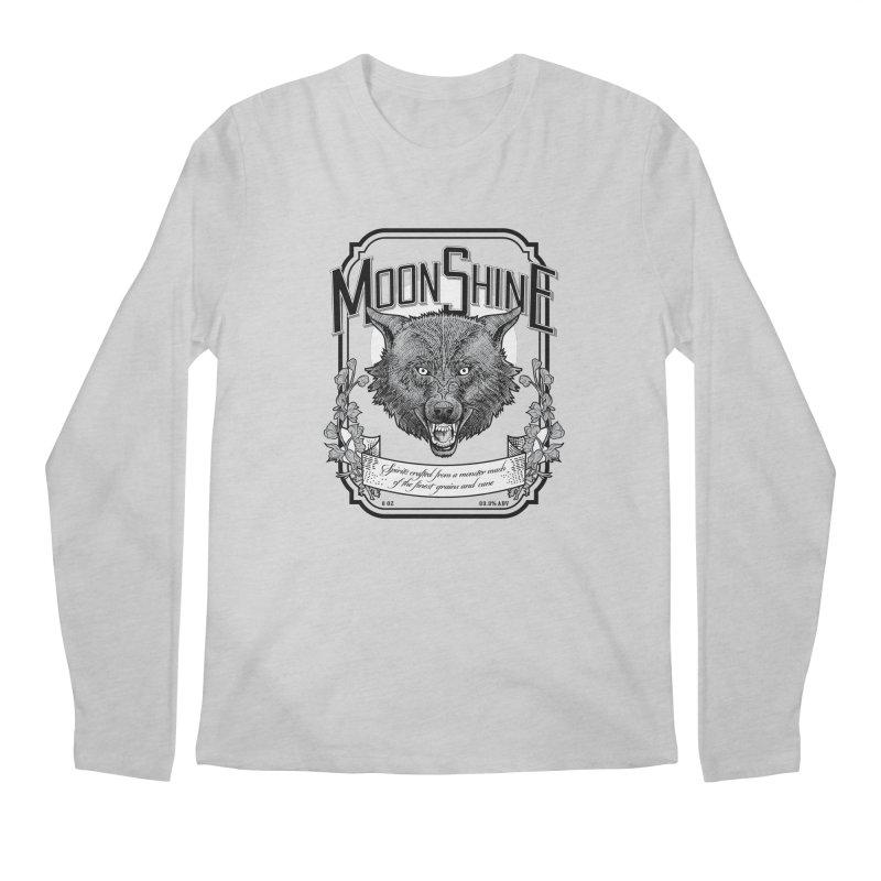 Moonshine Men's Regular Longsleeve T-Shirt by Neon Robot Graphics