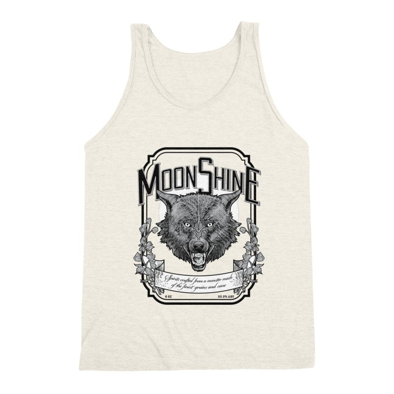 Moonshine Men's Triblend Tank by Neon Robot Graphics