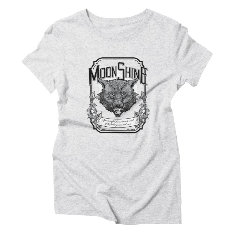 Moonshine Women's T-Shirt by Neon Robot Graphics