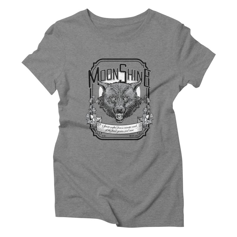 Moonshine Women's Triblend T-Shirt by Neon Robot Graphics