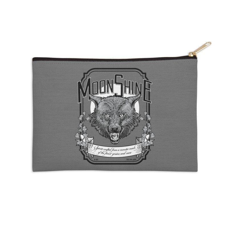 Moonshine Accessories Zip Pouch by Neon Robot Graphics
