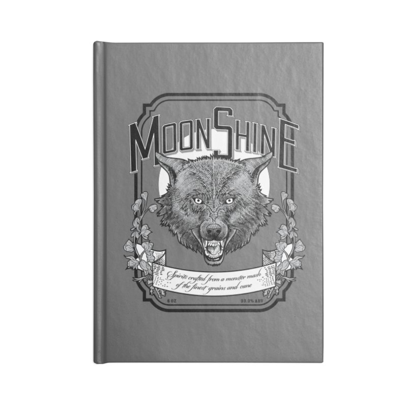 Moonshine Accessories Lined Journal Notebook by Neon Robot Graphics