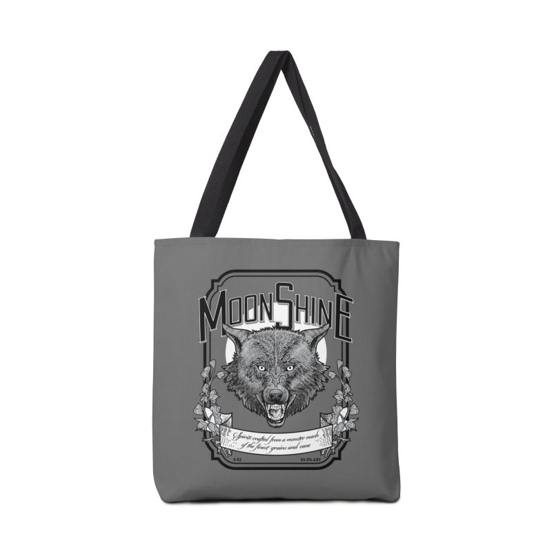 Moonshine Accessories Tote Bag Bag by Neon Robot Graphics