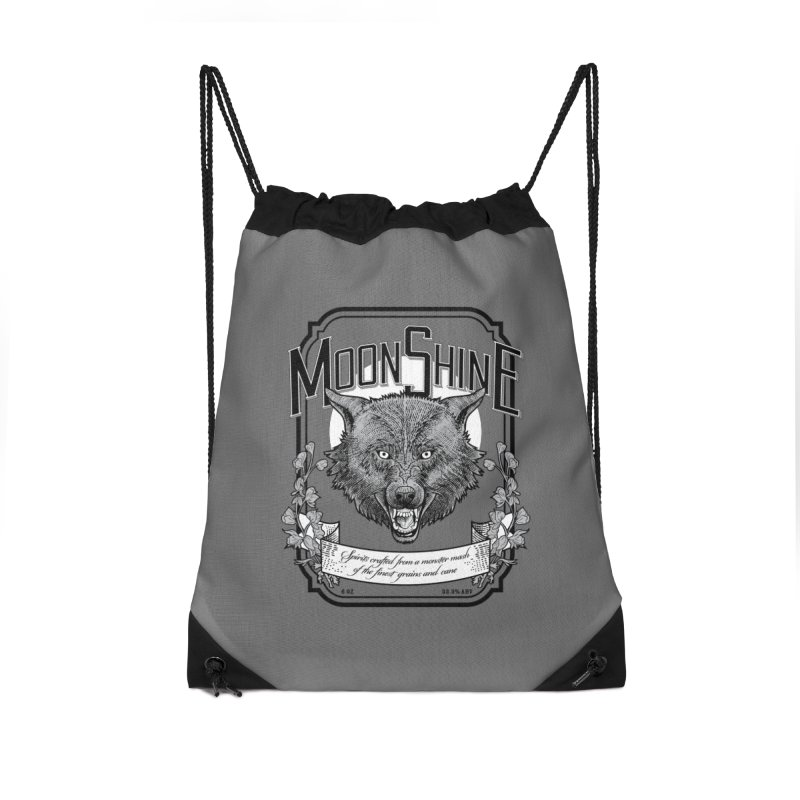 Moonshine Accessories Drawstring Bag Bag by Neon Robot Graphics