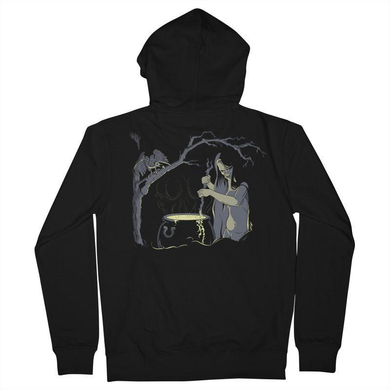Witch's Brew Men's French Terry Zip-Up Hoody by Neon Robot Graphics