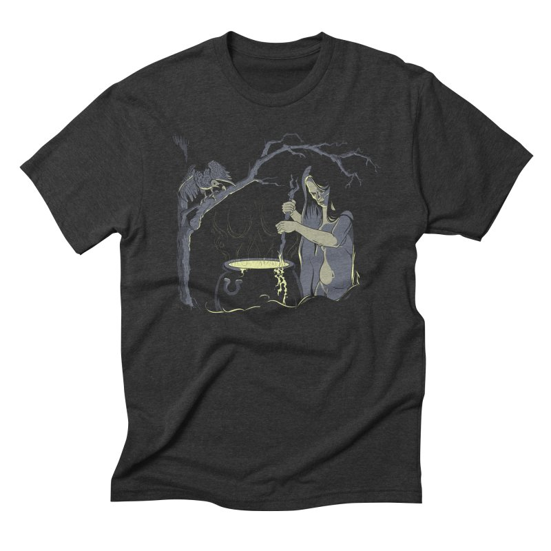 Witch's Brew Men's Triblend T-Shirt by Neon Robot Graphics