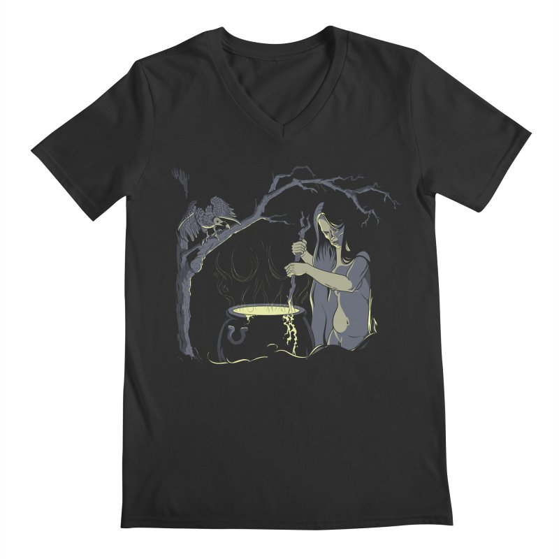Witch's Brew Men's Regular V-Neck by Neon Robot Graphics