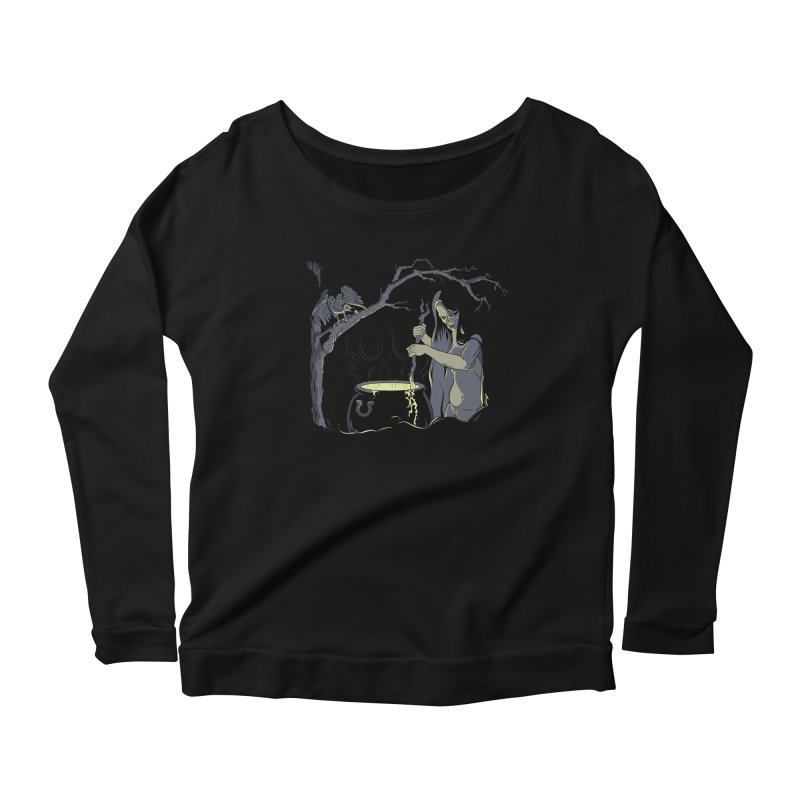 Witch's Brew Women's Scoop Neck Longsleeve T-Shirt by Neon Robot Graphics