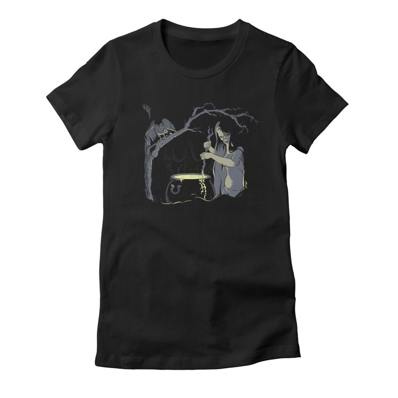 Witch's Brew Women's Fitted T-Shirt by Neon Robot Graphics