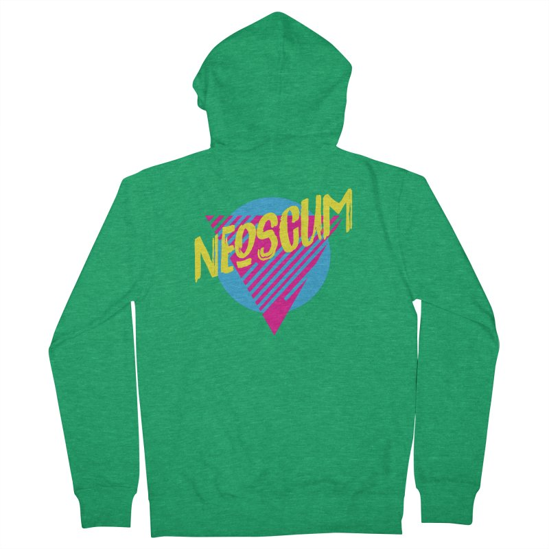 NeoScum Retro Omega Men's French Terry Zip-Up Hoody by NeoScum Shop