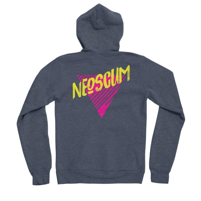NeoScum Retro Alpha Women's Sponge Fleece Zip-Up Hoody by NeoScum Shop