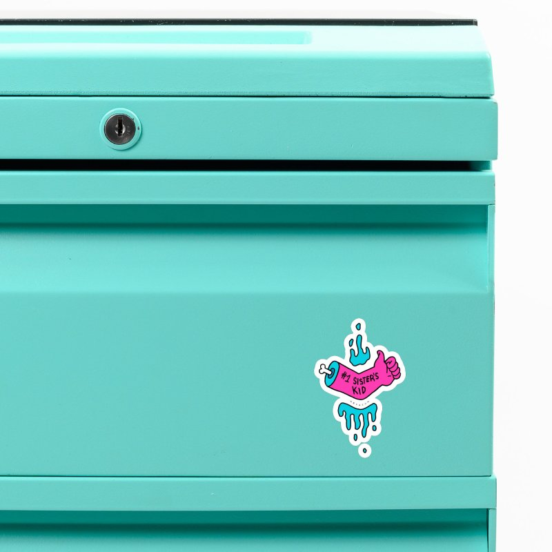 #1 Sister's Kid Classic Accessories Magnet by NeoScum Shop
