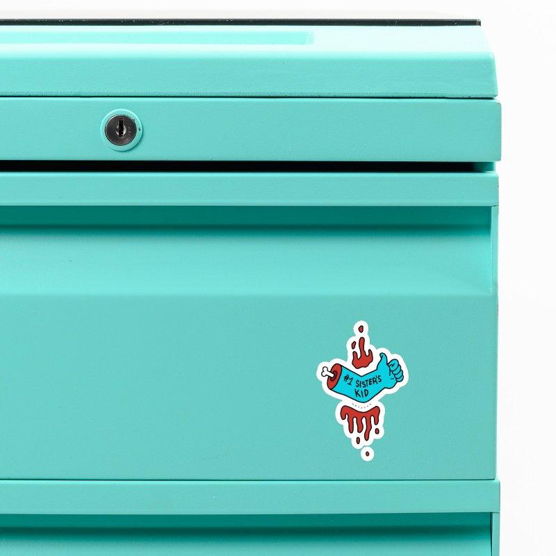 #1 Sister's Kid - Blue Razz Accessories Magnet by NeoScum Shop