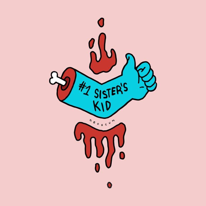#1 Sister's Kid - Blue Razz Men's T-Shirt by NeoScum Shop