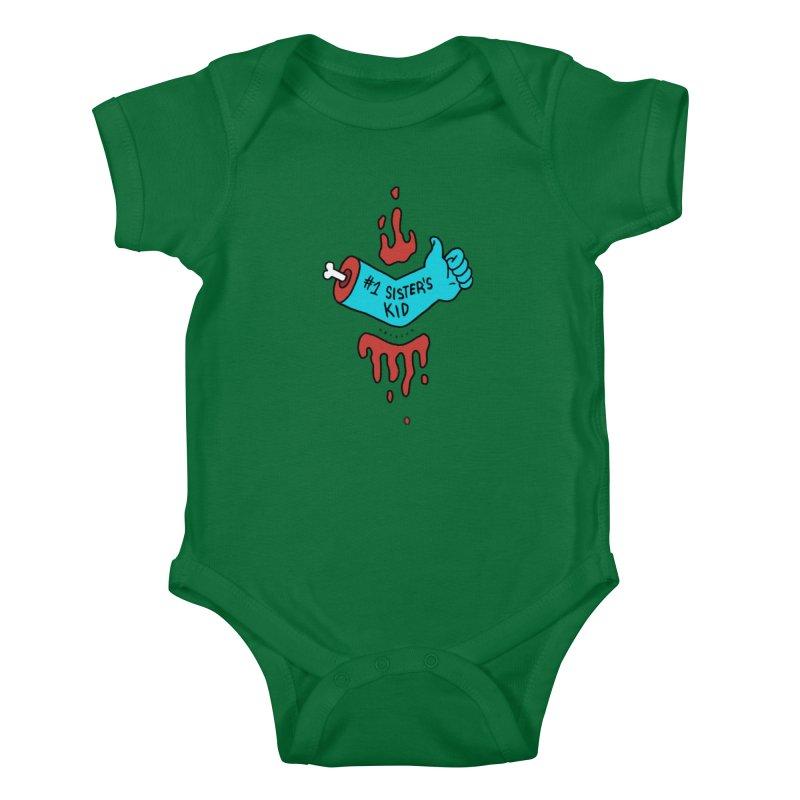 #1 Sister's Kid - Blue Razz Kids Baby Bodysuit by NeoScum Shop