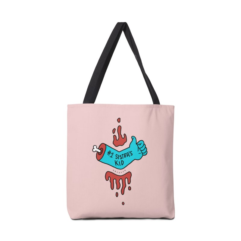 #1 Sister's Kid - Blue Razz Accessories Tote Bag Bag by NeoScum Shop