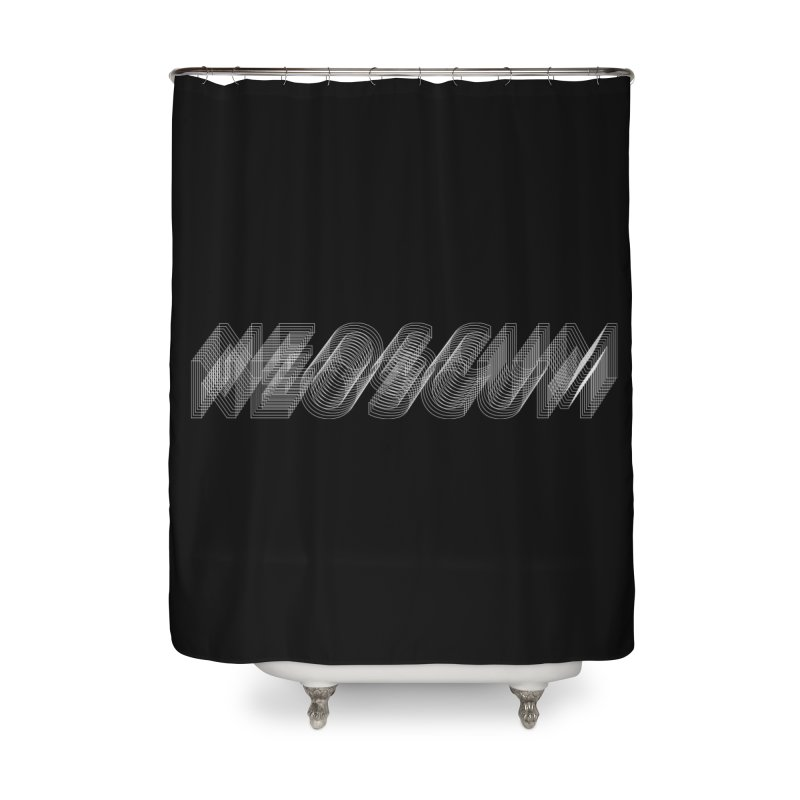 Scumverse Wire (White) Home Shower Curtain by NeoScum Shop