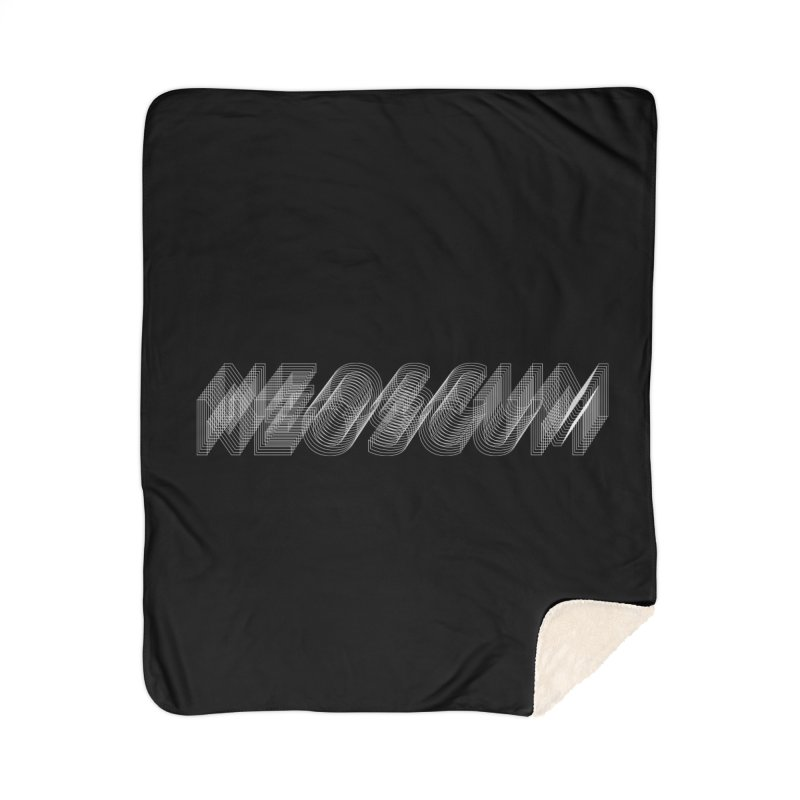 Scumverse Wire (White) Home Sherpa Blanket Blanket by NeoScum Shop