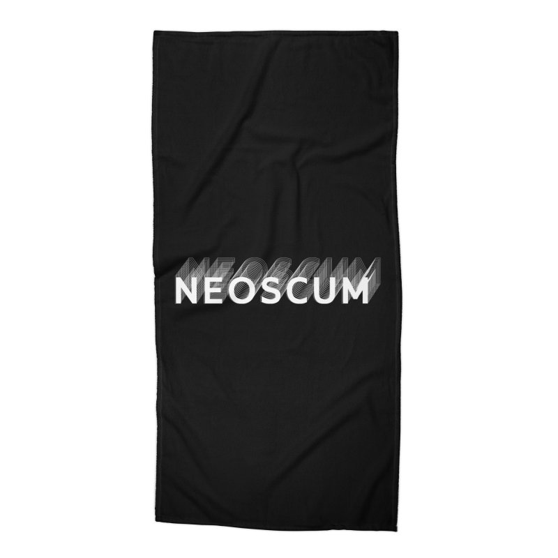 Scumverse Solid (White) Accessories Beach Towel by NeoScum Shop