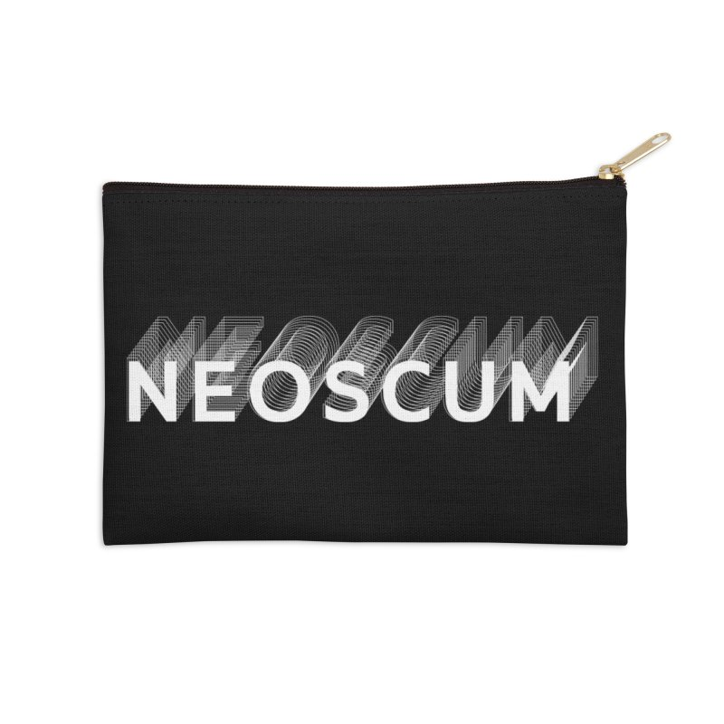 Scumverse Solid (White) Accessories Zip Pouch by NeoScum Shop