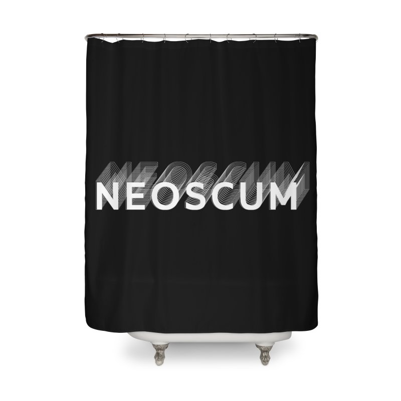 Scumverse Solid (White) Home Shower Curtain by NeoScum Shop
