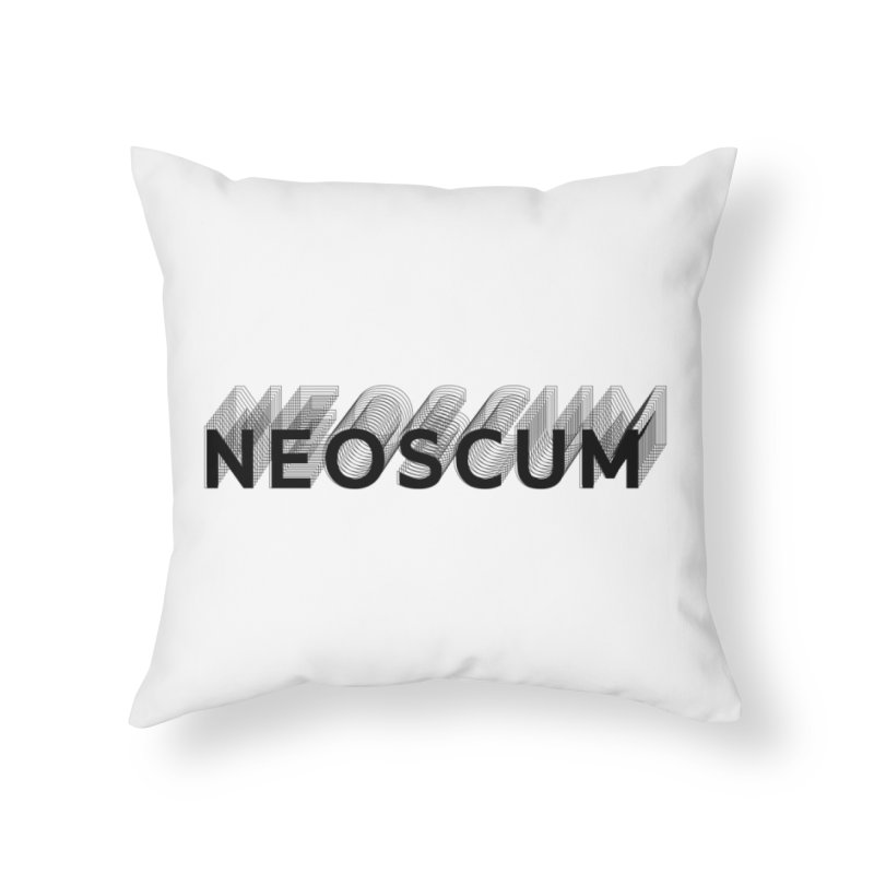 Scumverse Solid (Black) Home Throw Pillow by NeoScum Shop