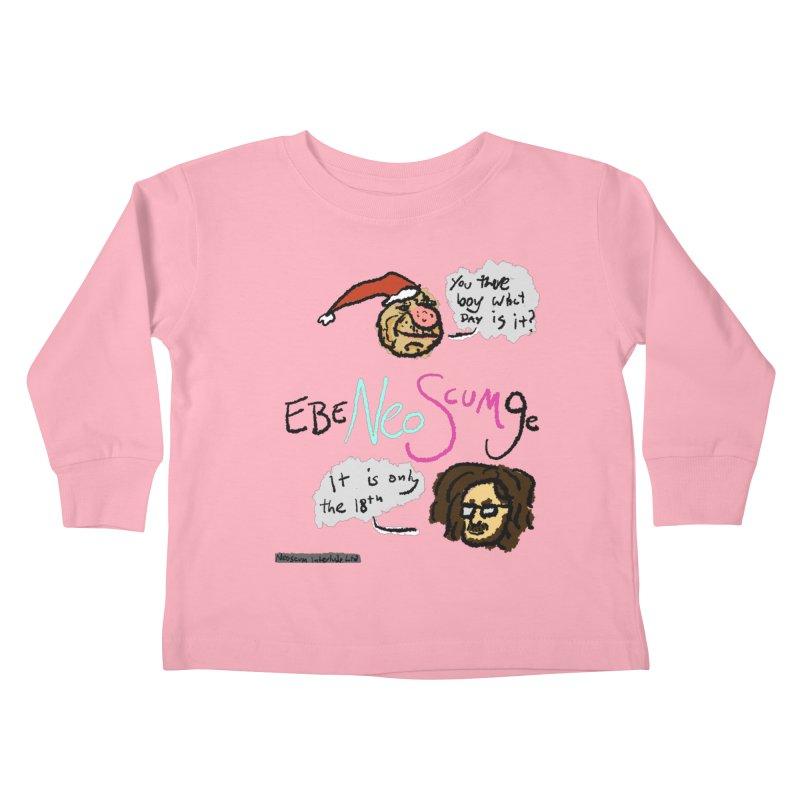 EbeNeoScumGe Kids Toddler Longsleeve T-Shirt by NeoScum Shop