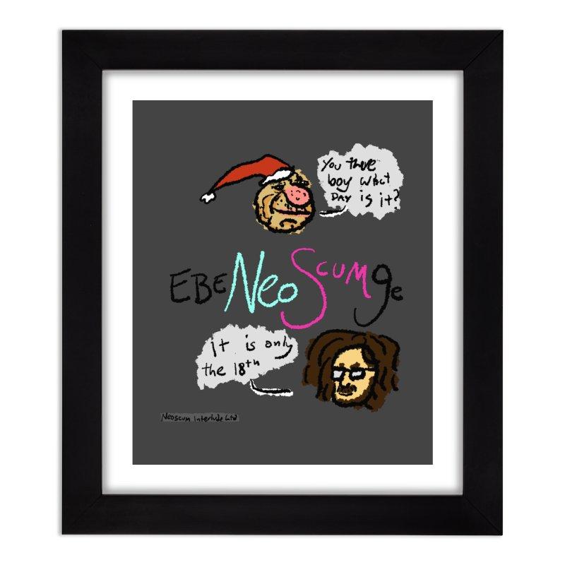 EbeNeoScumGe Home Framed Fine Art Print by NeoScum Shop