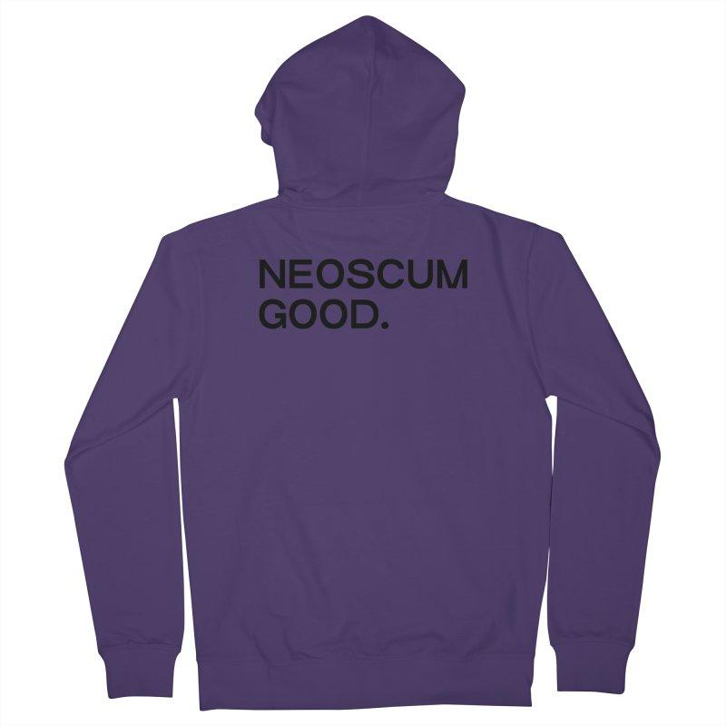 NEOSCUM GOOD (Black) Women's French Terry Zip-Up Hoody by NeoScum Shop