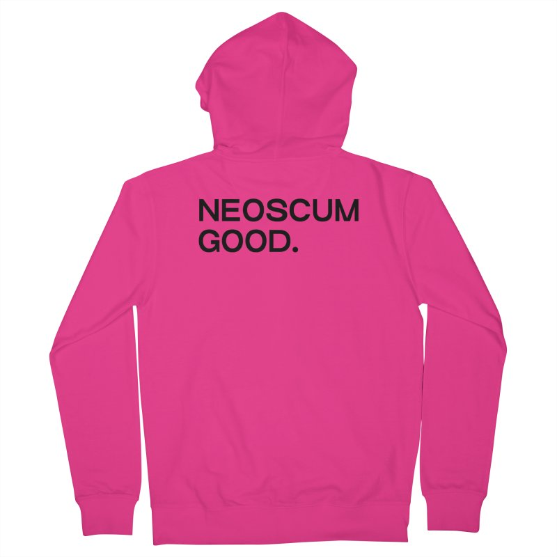 NEOSCUM GOOD (Black) Men's French Terry Zip-Up Hoody by NeoScum Shop