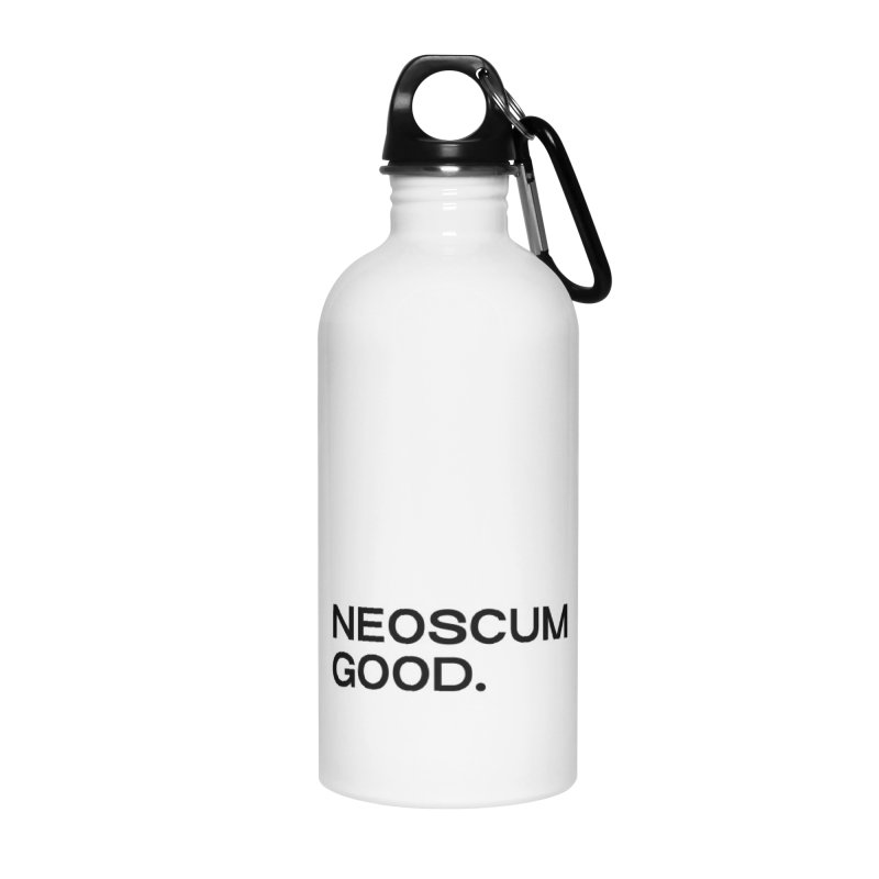 NEOSCUM GOOD (Black) Accessories Water Bottle by NeoScum Shop