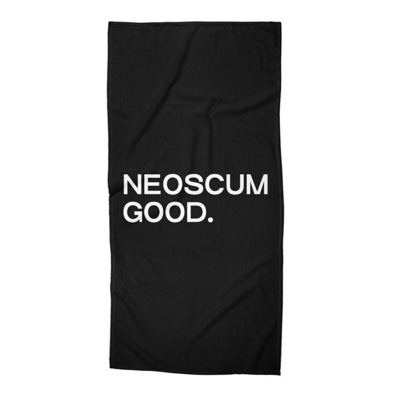 NEOSCUM GOOD (White) Accessories Beach Towel by NeoScum Shop