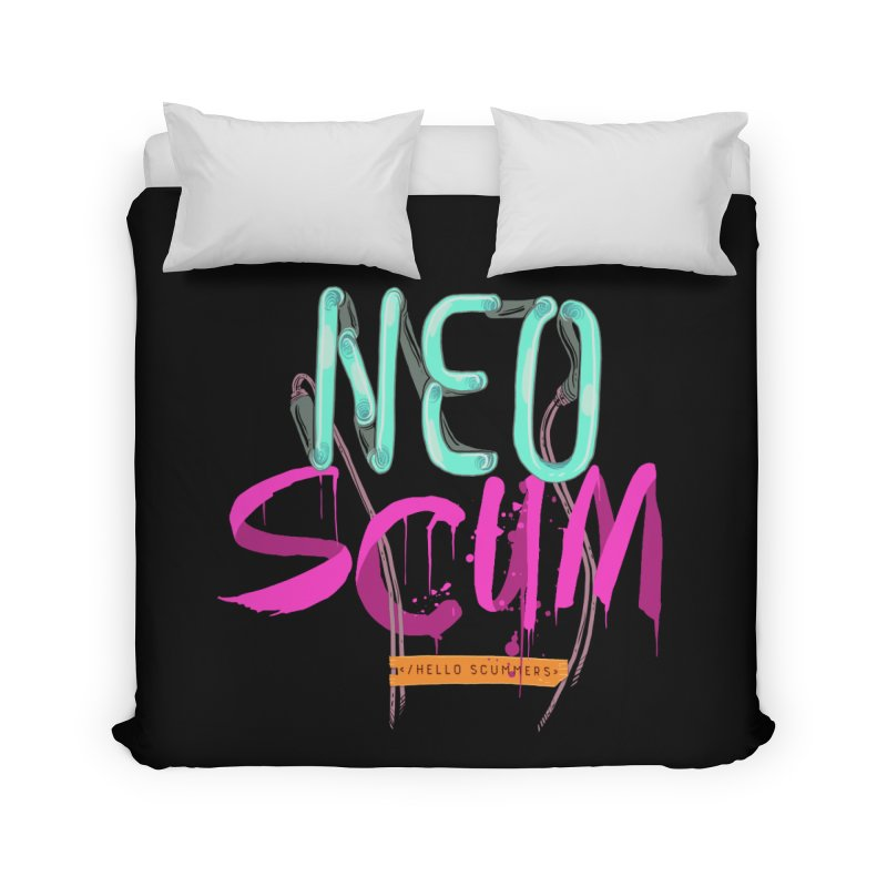NeoScum Logo Home Duvet by NeoScum Shop
