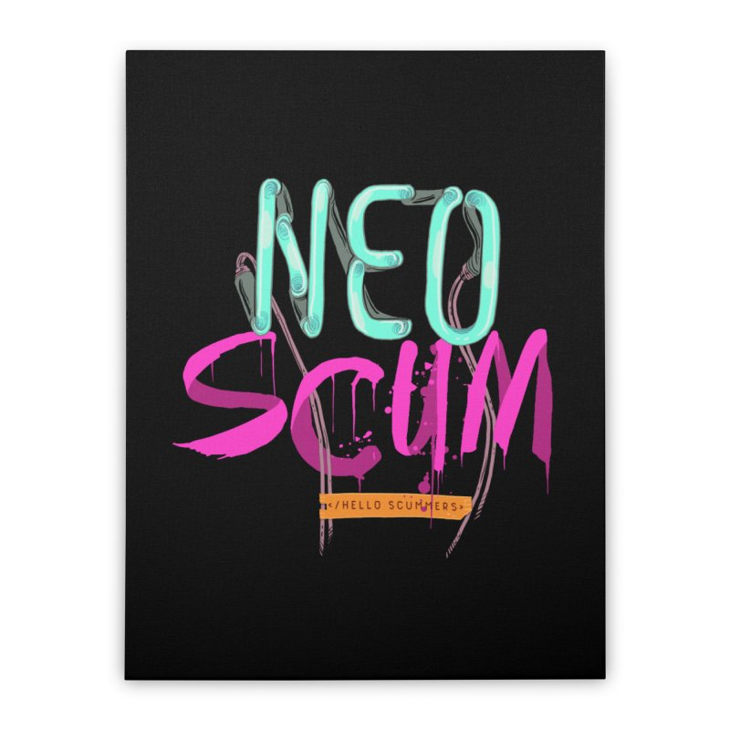 NeoScum Logo Home Stretched Canvas by NeoScum Shop