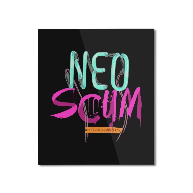 NeoScum Logo Home Mounted Aluminum Print by NeoScum Shop