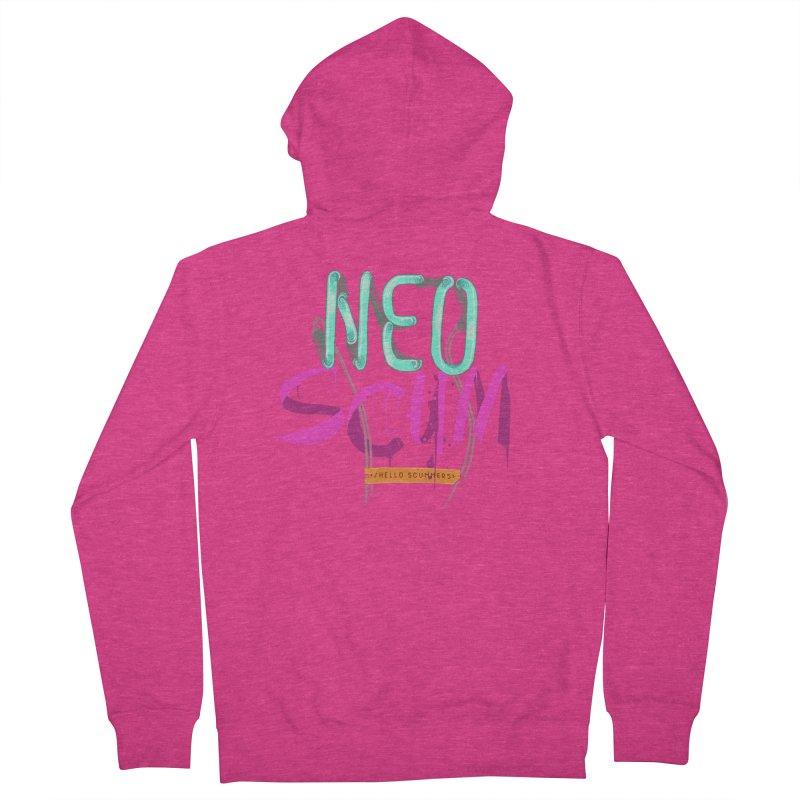 NeoScum Logo Women's French Terry Zip-Up Hoody by NeoScum Shop