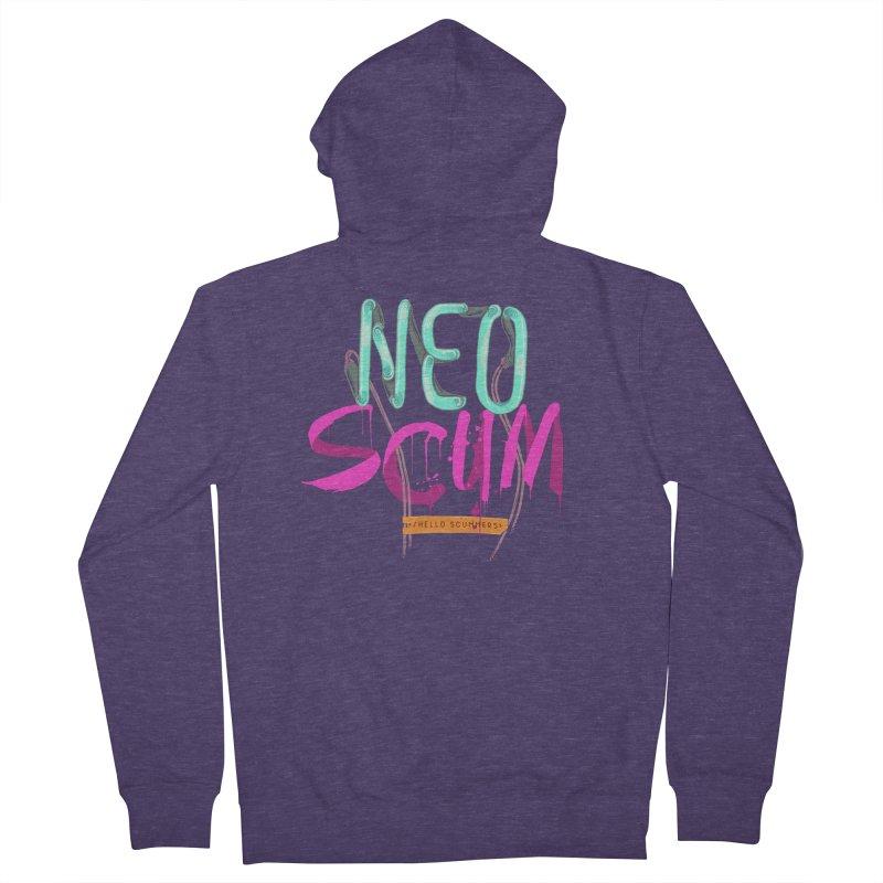 NeoScum Logo Men's French Terry Zip-Up Hoody by NeoScum Shop