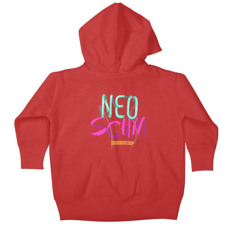 NeoScum Logo Kids Baby Zip-Up Hoody by NeoScum Shop