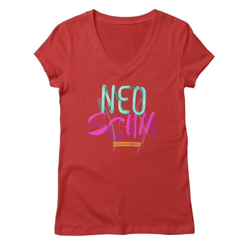 NeoScum Logo Women's Regular V-Neck by NeoScum Shop