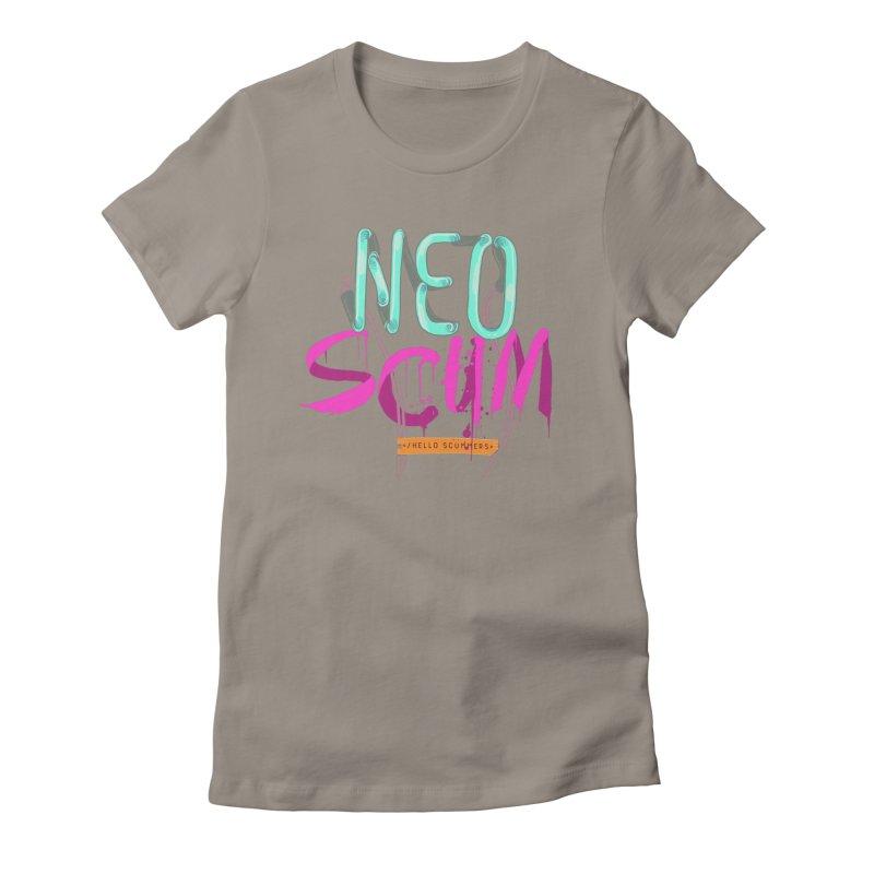 NeoScum Logo Women's Fitted T-Shirt by NeoScum Shop