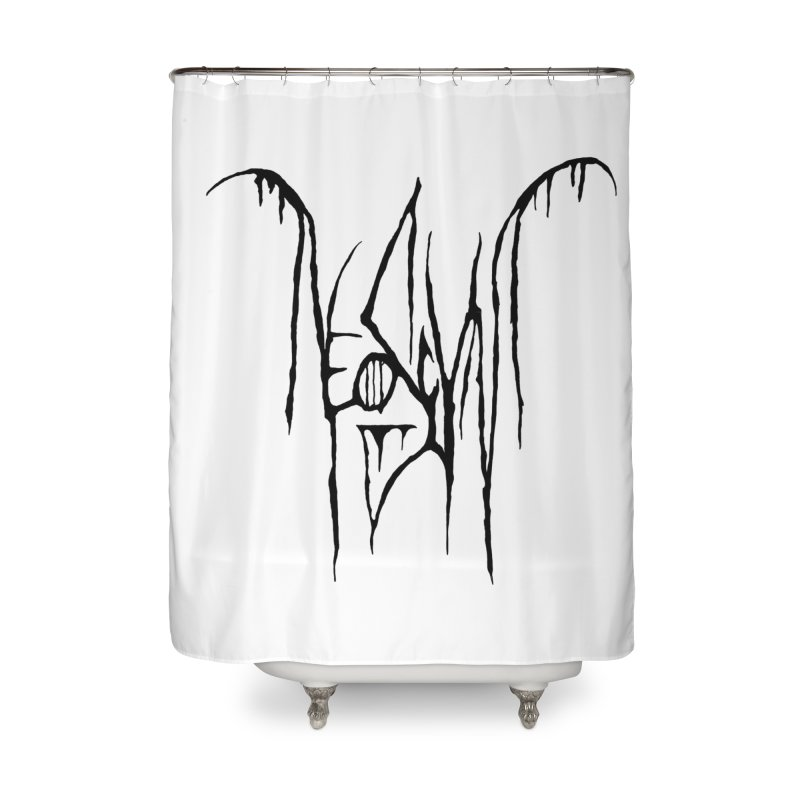 NeoScum Metal (Ash) Home Shower Curtain by NeoScum Shop
