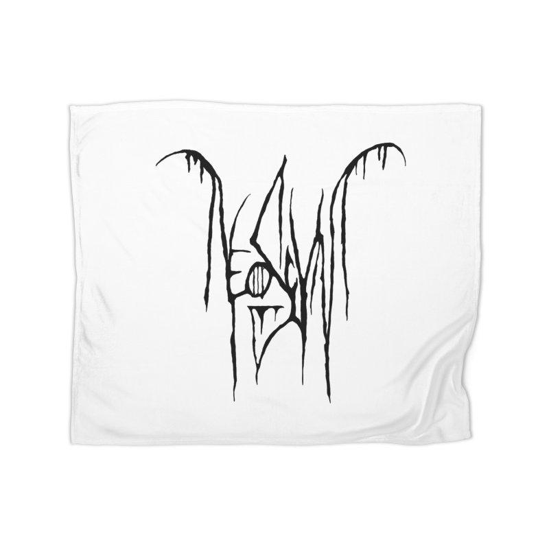 NeoScum Metal (Ash) Home Fleece Blanket Blanket by NeoScum Shop