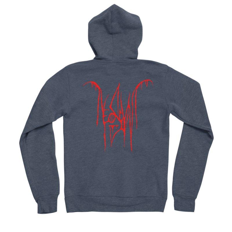 NeoScum Metal (Blood) Women's Sponge Fleece Zip-Up Hoody by NeoScum Shop