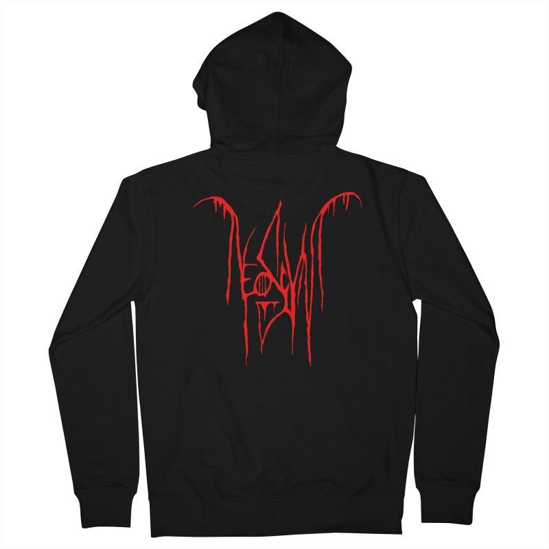 NeoScum Metal (Blood) Men's French Terry Zip-Up Hoody by NeoScum Shop