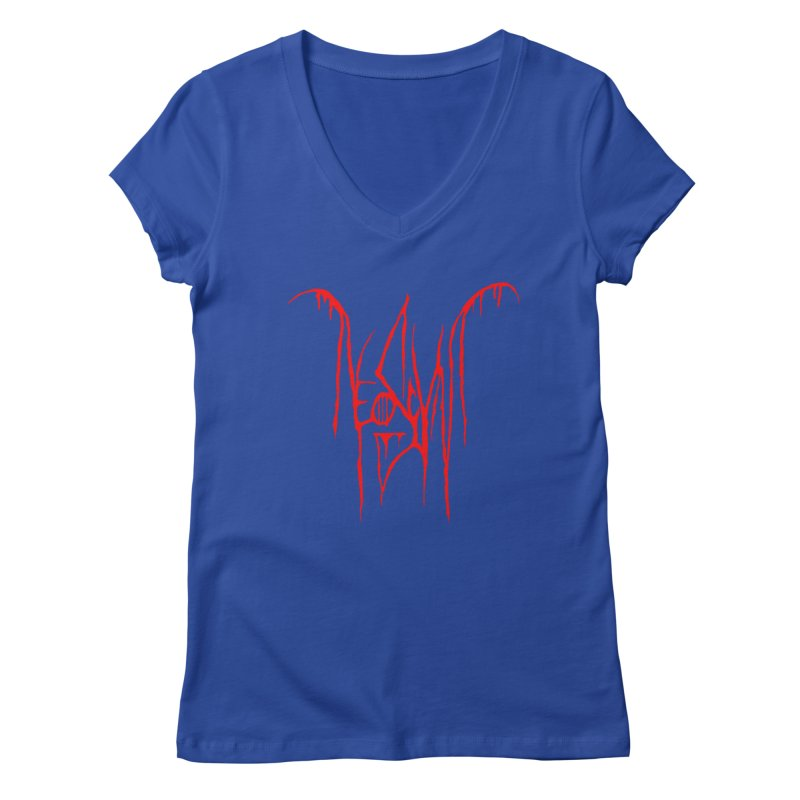 NeoScum Metal (Blood) Women's Regular V-Neck by NeoScum Shop