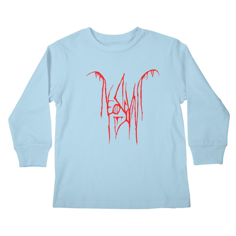 NeoScum Metal (Blood) Kids Longsleeve T-Shirt by NeoScum Shop