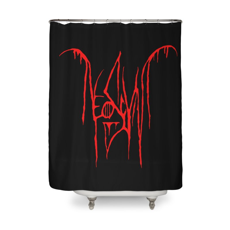 NeoScum Metal (Blood) Home Shower Curtain by NeoScum Shop