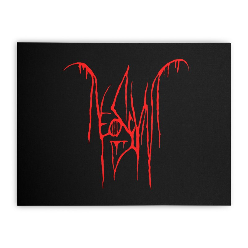 NeoScum Metal (Blood) Home Stretched Canvas by NeoScum Shop