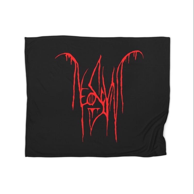 NeoScum Metal (Blood) Home Fleece Blanket Blanket by NeoScum Shop